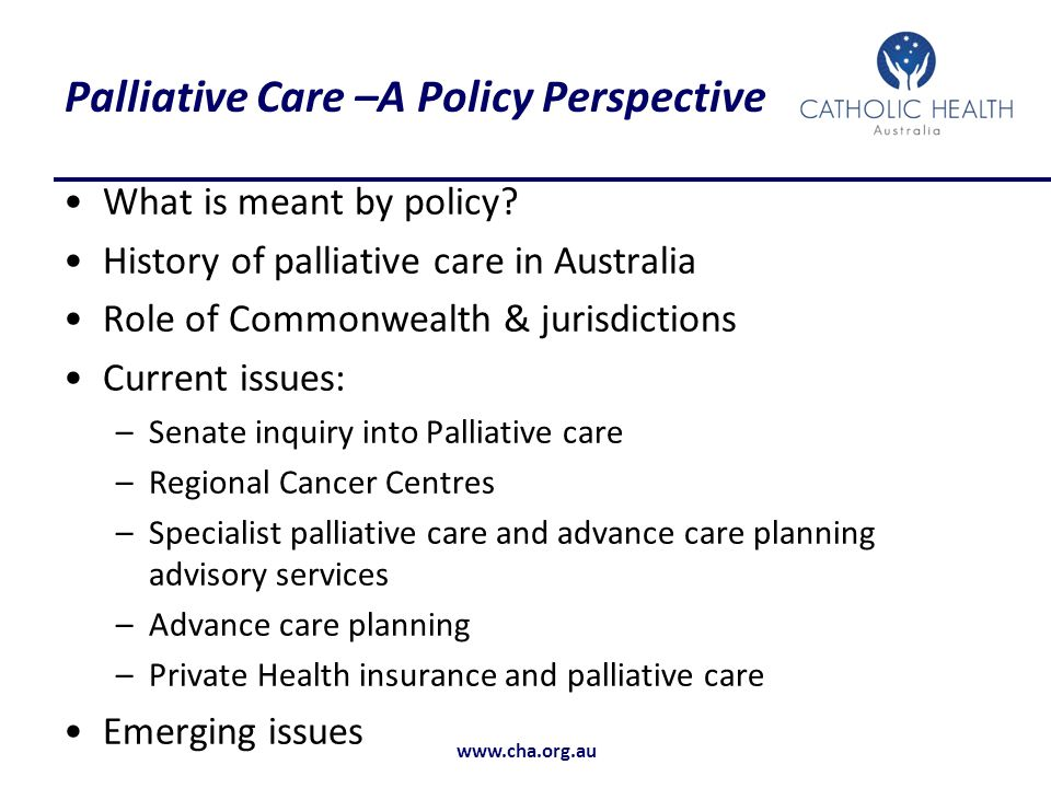 Palliative Care –A Policy Perspective