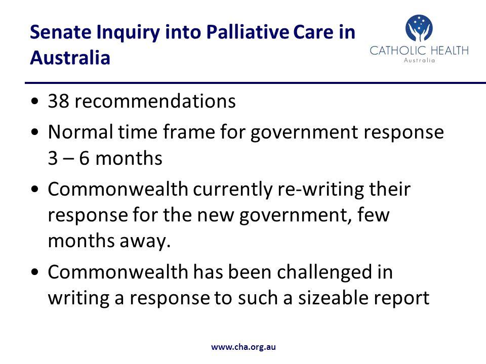 Senate Inquiry into Palliative Care in Australia