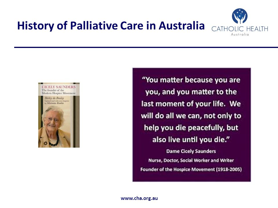 History of Palliative Care in Australia