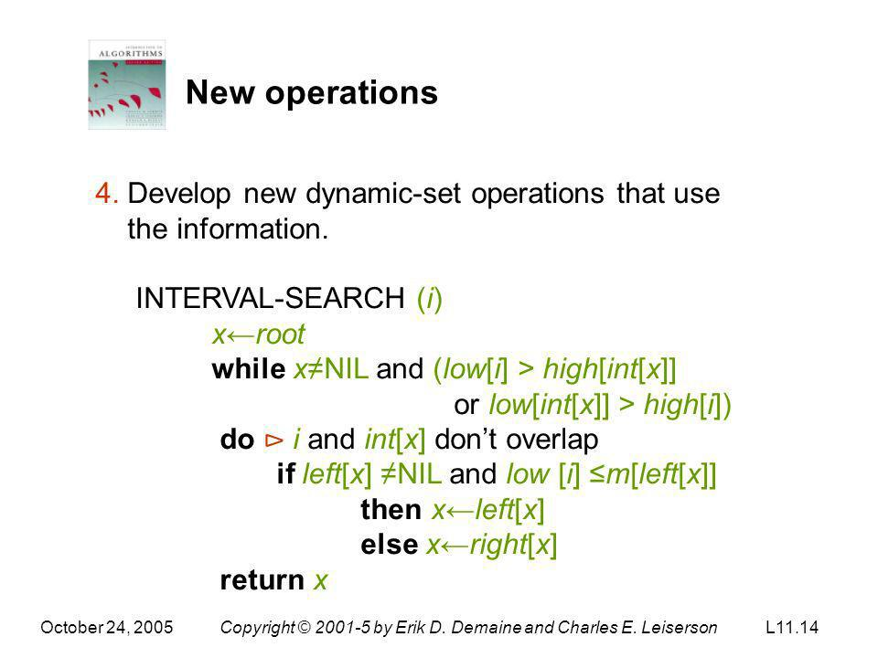 New operations 4. Develop new dynamic-set operations that use