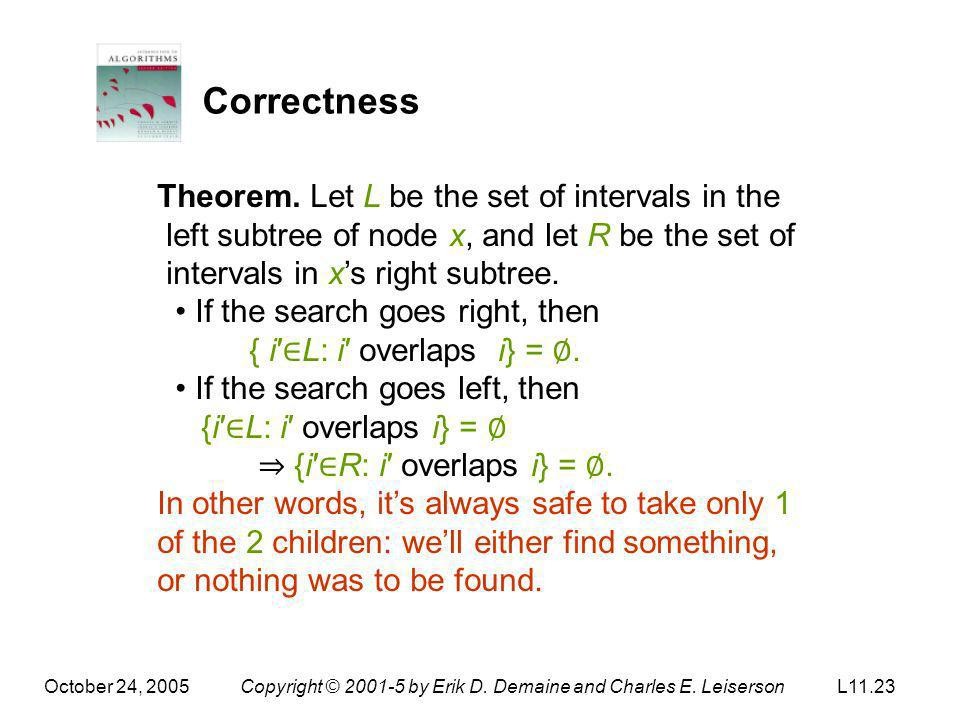 Correctness Theorem. Let L be the set of intervals in the