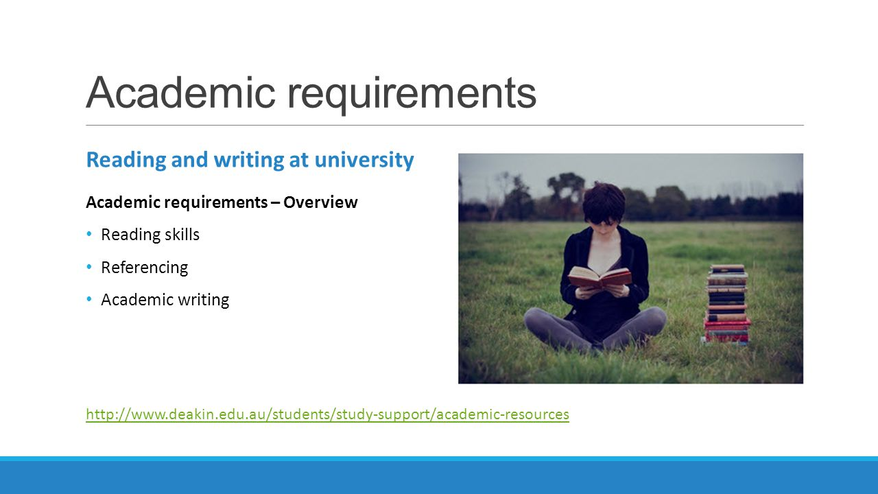 Academic requirements