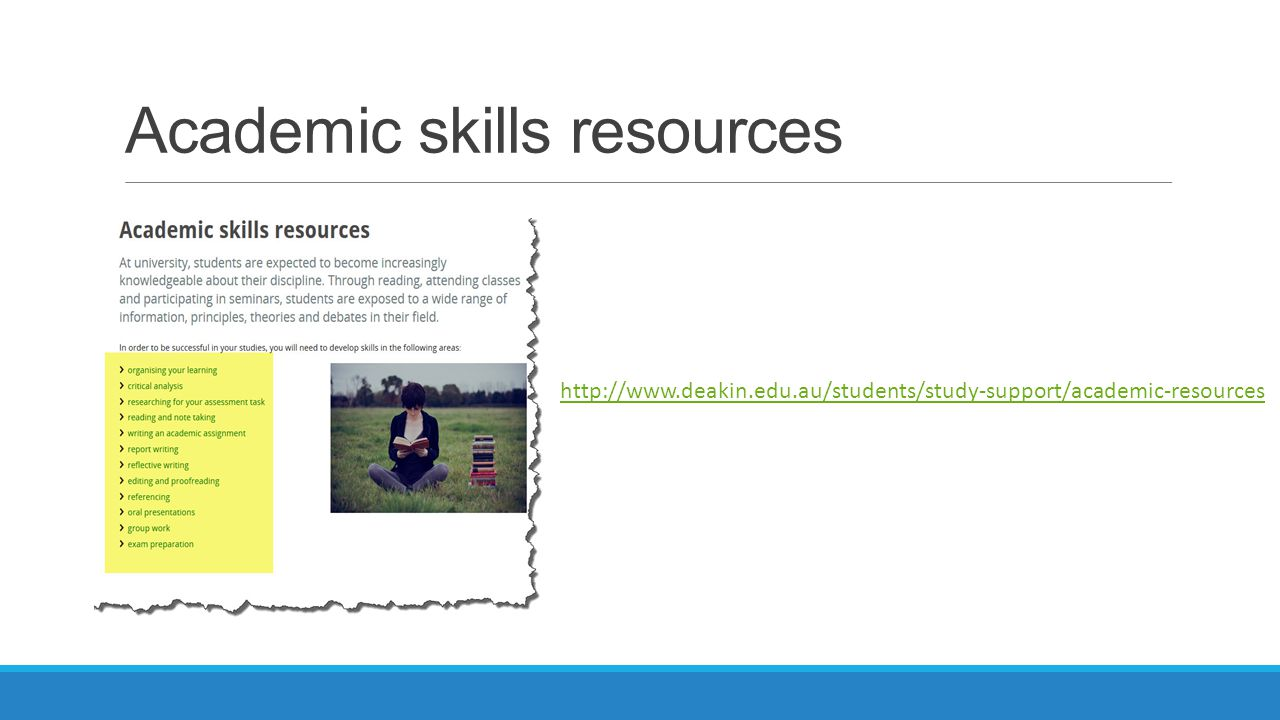 Academic skills resources