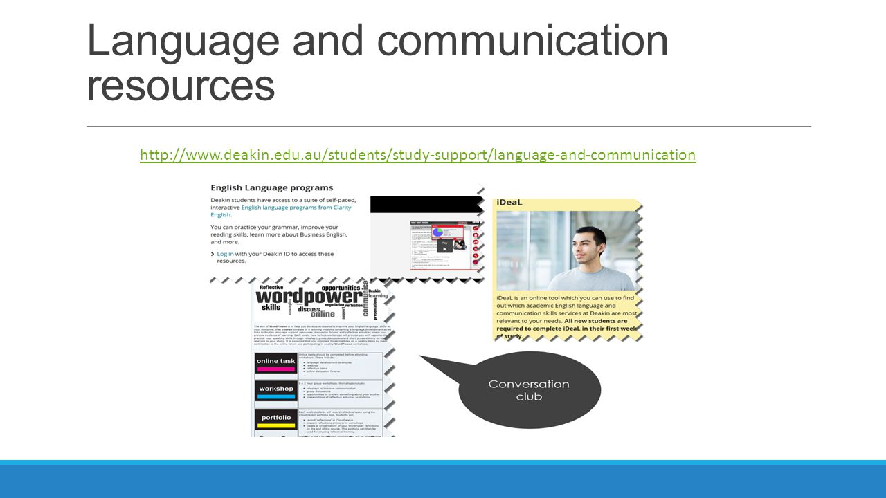 Language and communication resources