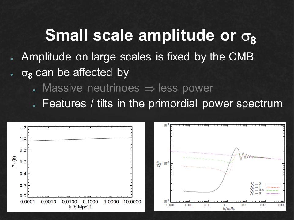 Small scale amplitude or 8
