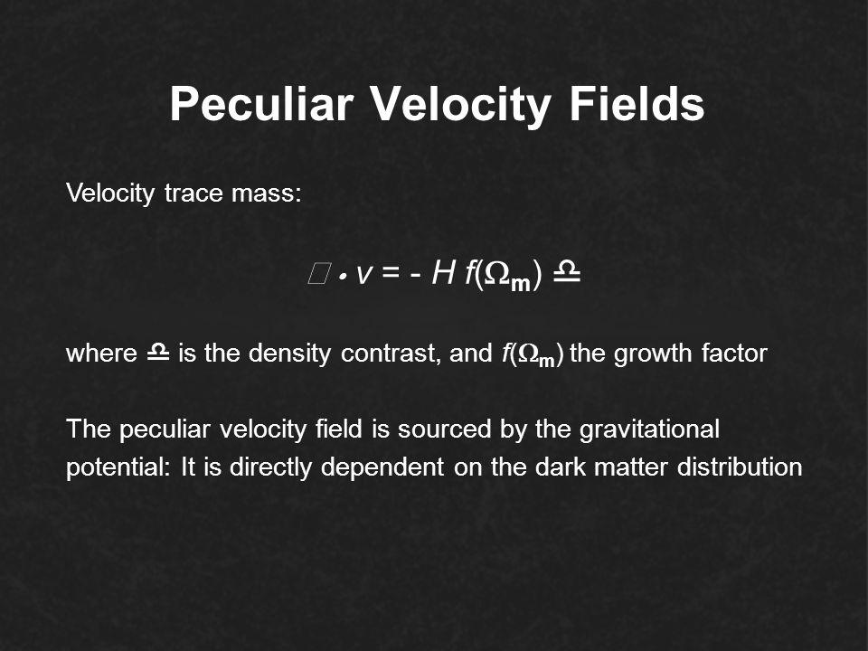Peculiar Velocity Fields