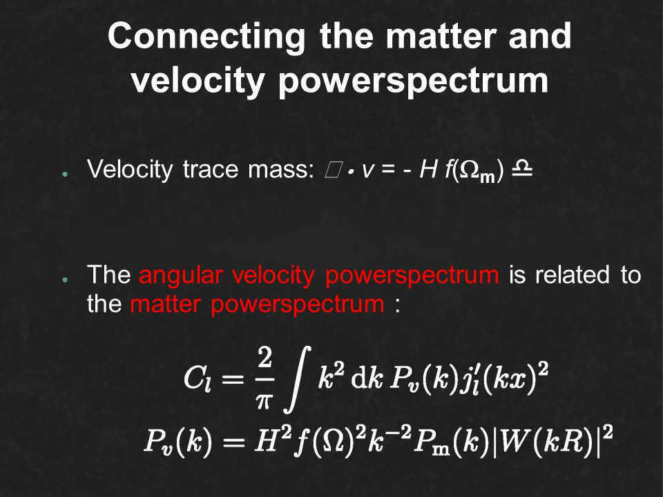 Connecting the matter and velocity powerspectrum