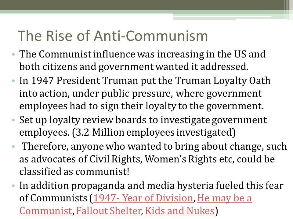The Rise of Anti-Communism
