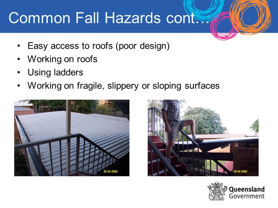 Common Fall Hazards cont…