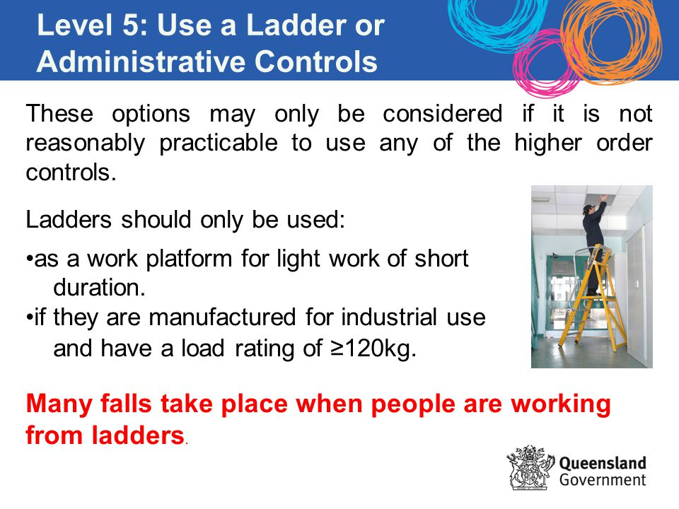 Level 5: Use a Ladder or Administrative Controls