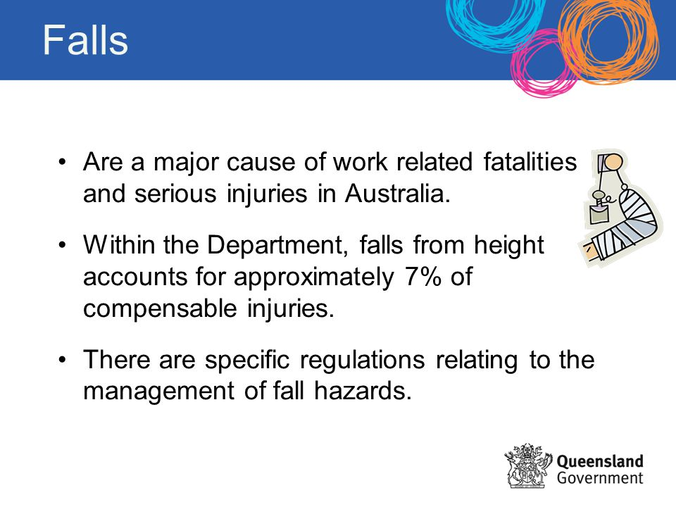 Falls Are a major cause of work related fatalities and serious injuries in Australia.