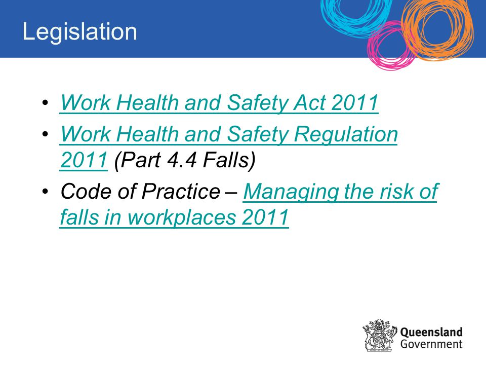 Legislation Work Health and Safety Act 2011