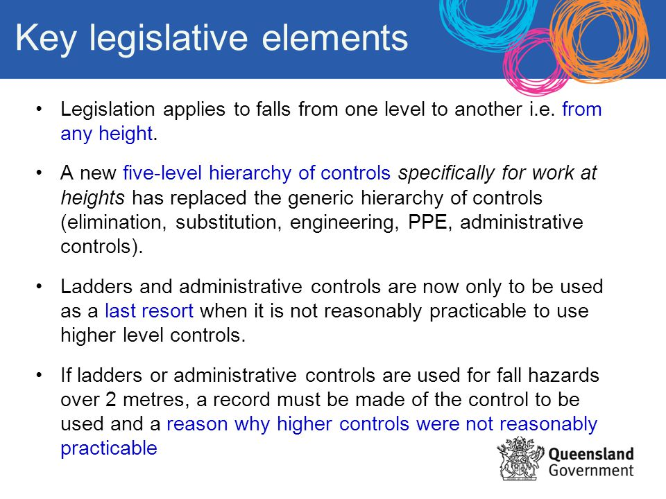 Key legislative elements