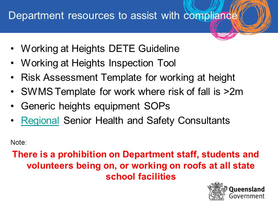 Department resources to assist with compliance