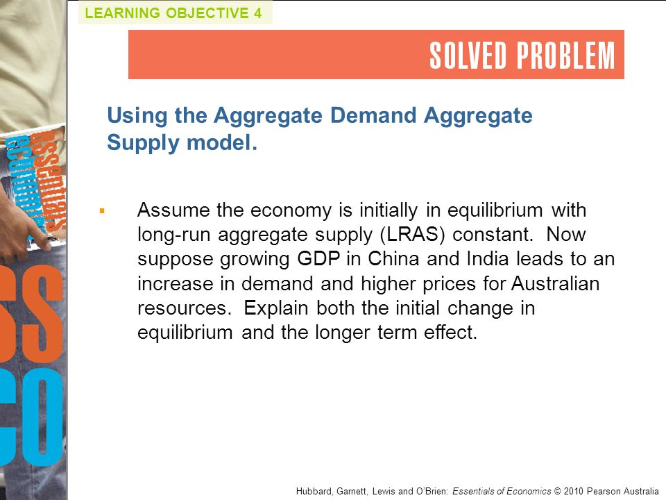 Using the Aggregate Demand Aggregate Supply model.