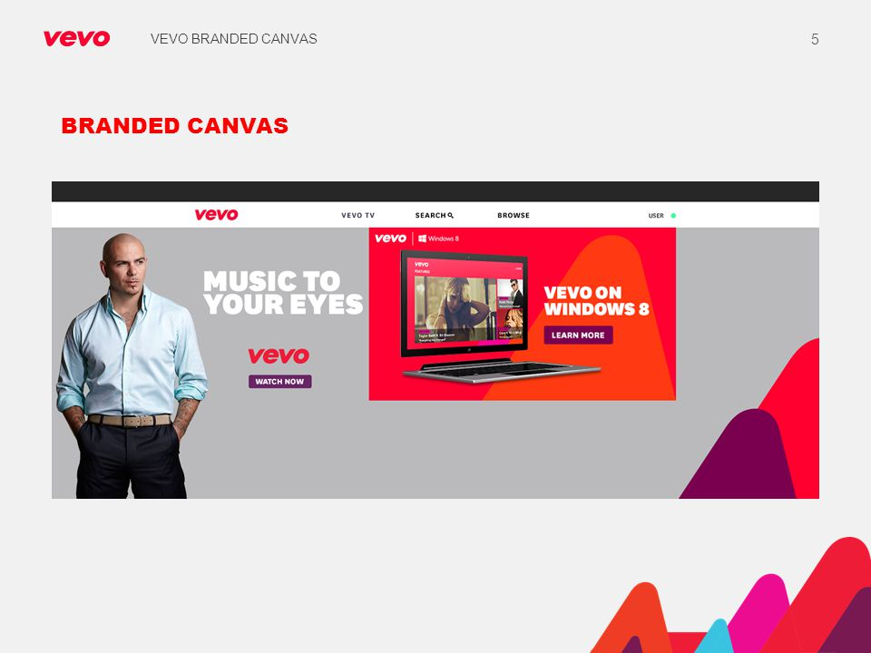 VEVO BRANDED CANVAS BRANDED CANVAS