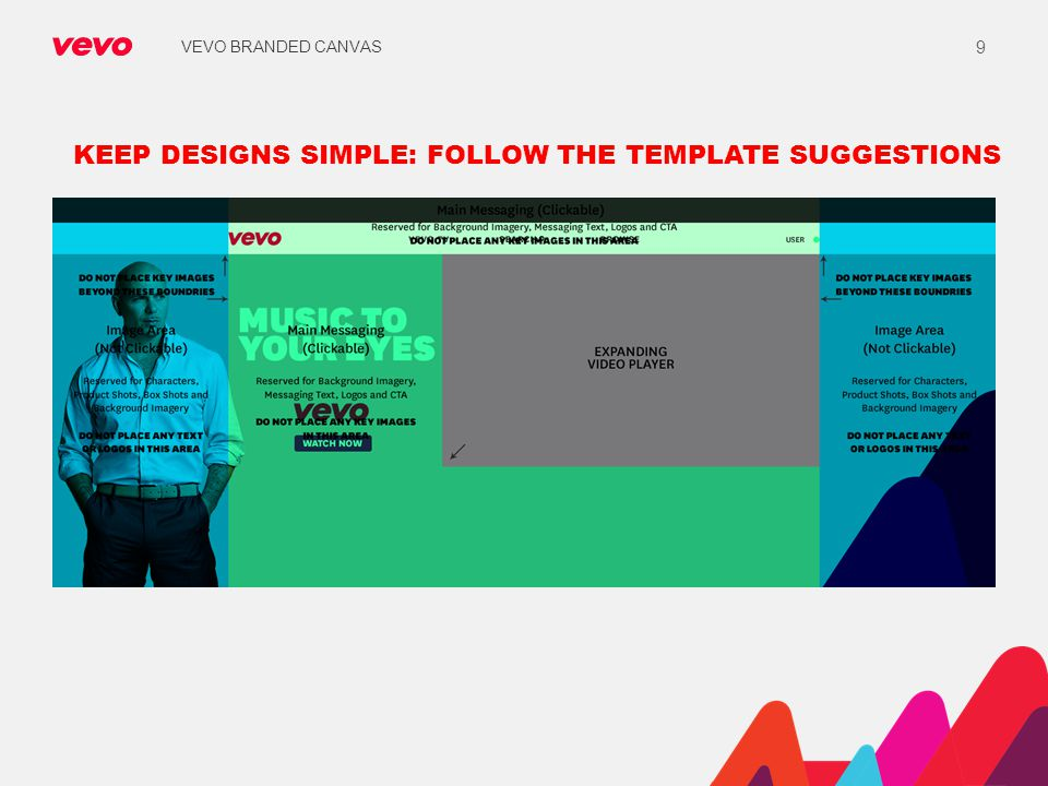 KEEP DESIGNS SIMPLE: FOLLOW THE TEMPLATE SUGGESTIONS