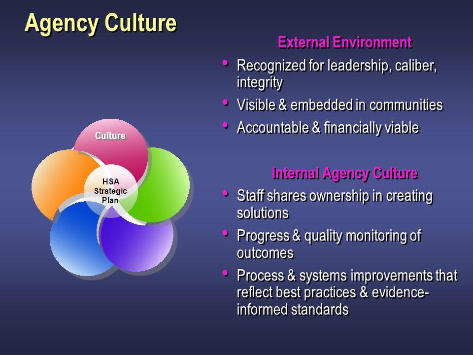 Internal Agency Culture
