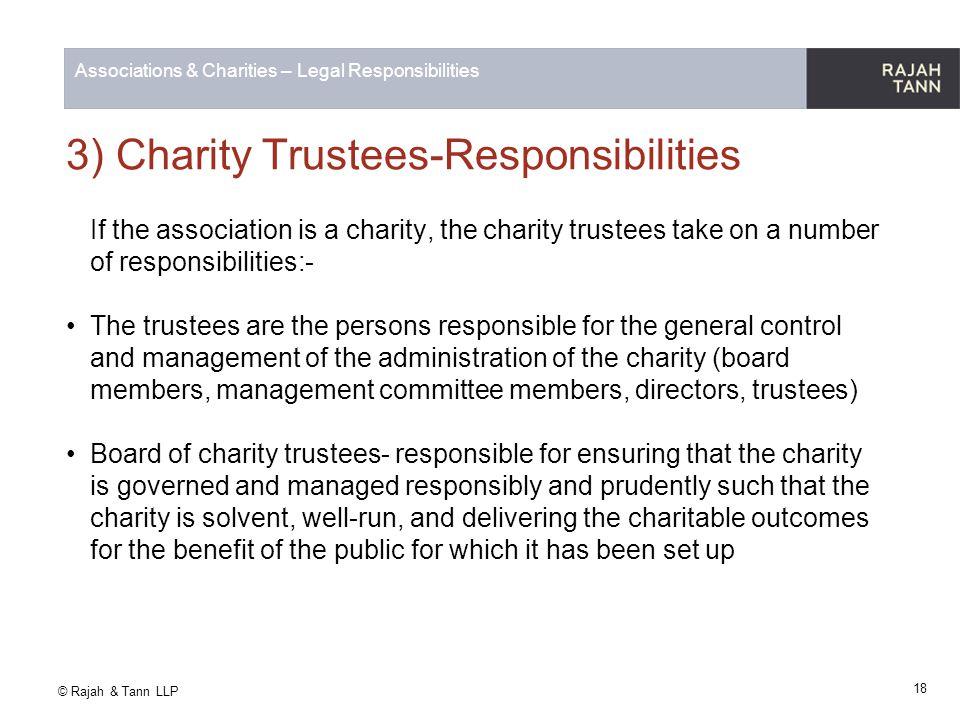 3) Charity Trustees-Responsibilities