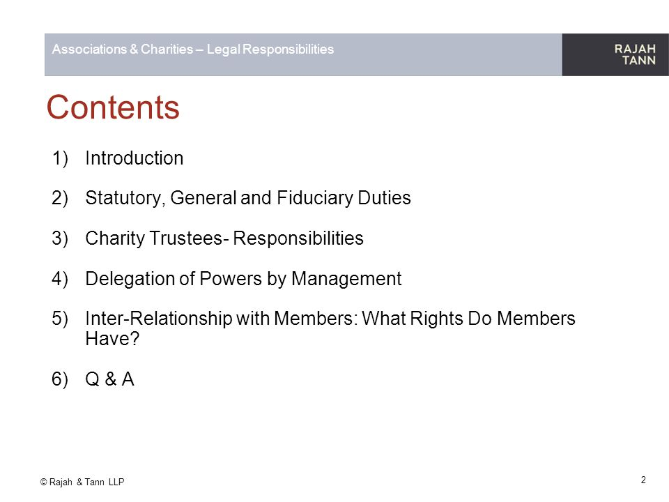 Contents Introduction Statutory, General and Fiduciary Duties