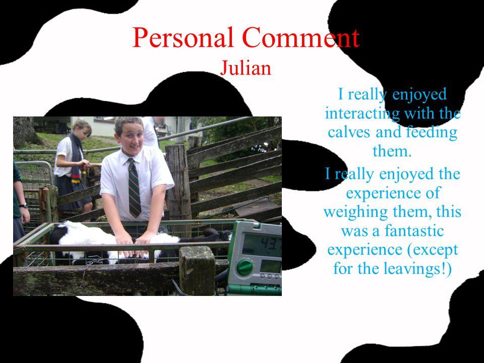 Personal Comment Julian