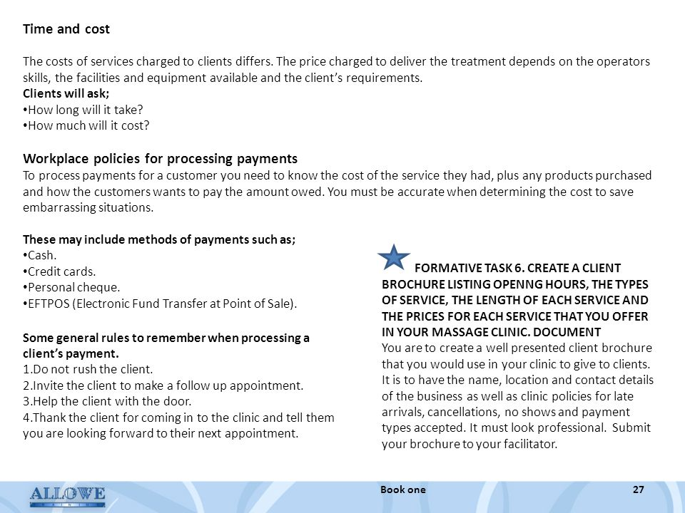 Workplace policies for processing payments