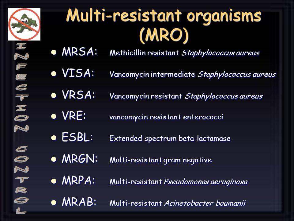 Multi-resistant organisms (MRO)