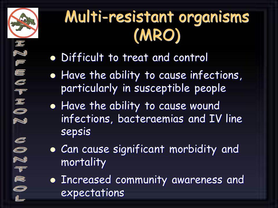 Multi-resistant organisms