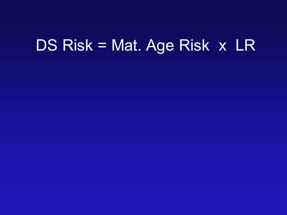 DS Risk = Mat. Age Risk x LR