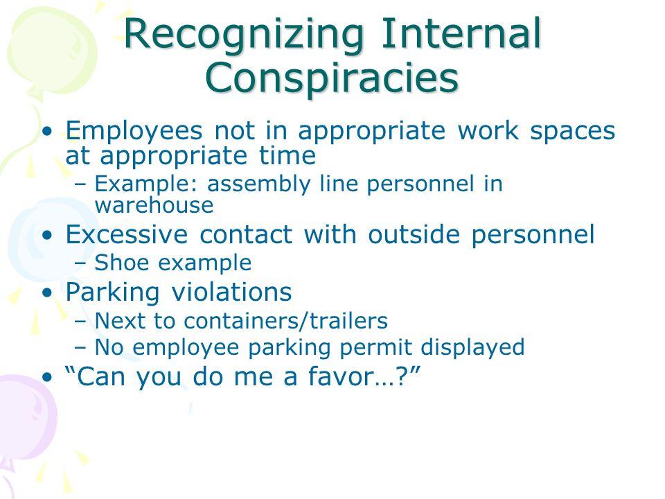 Recognizing Internal Conspiracies