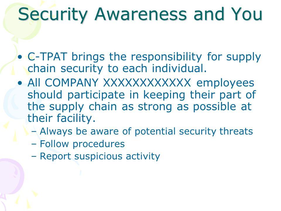 Security Awareness and You