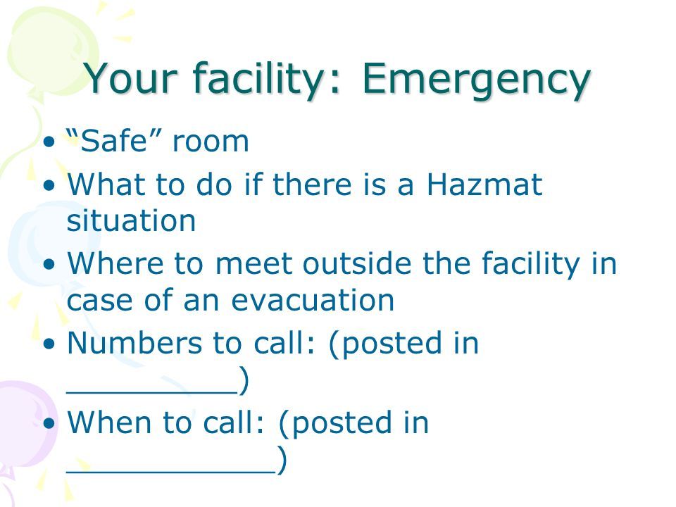 Your facility: Emergency