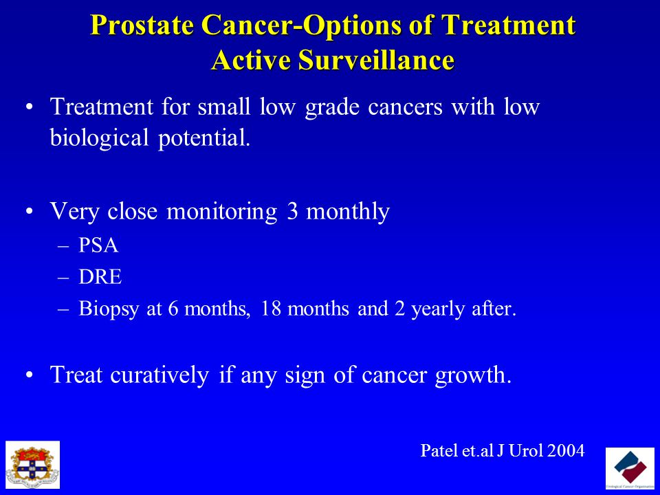 Prostate Cancer-Options of Treatment Active Surveillance