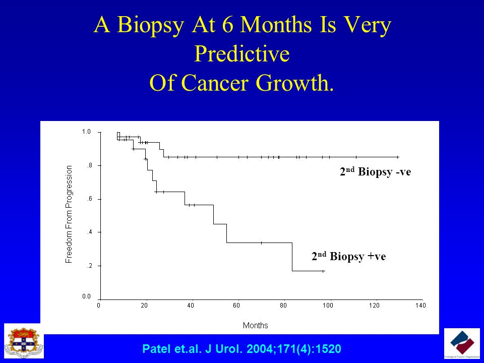 A Biopsy At 6 Months Is Very Predictive Of Cancer Growth.