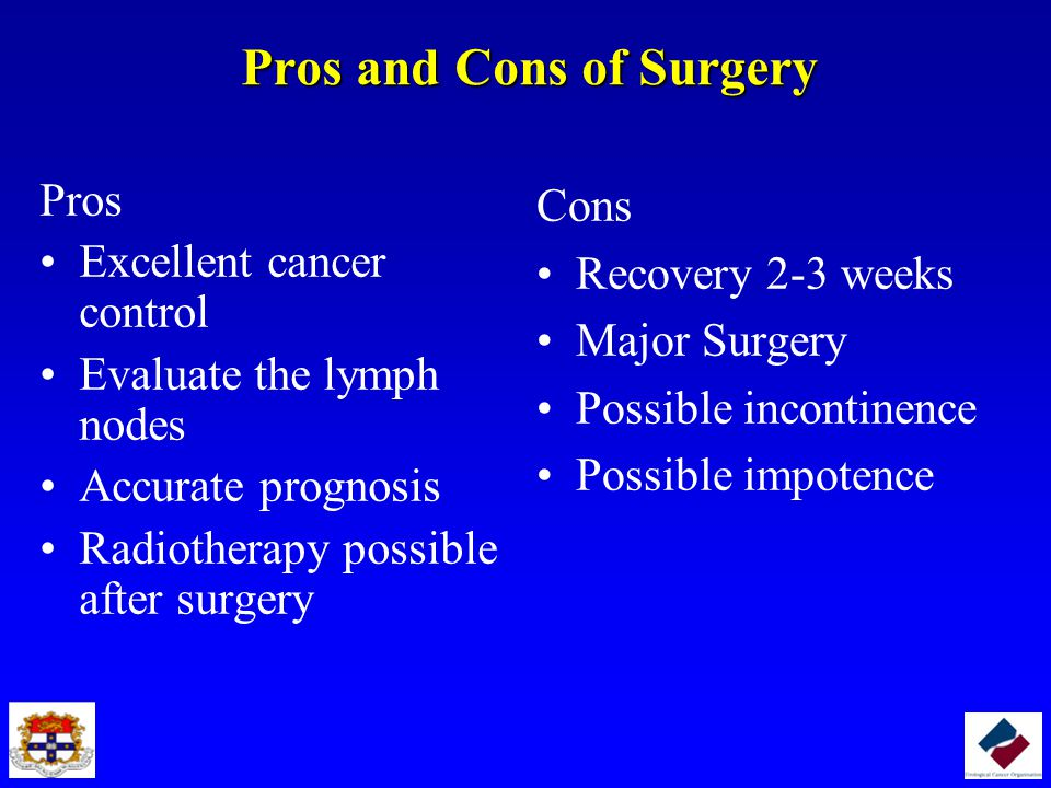Pros and Cons of Surgery