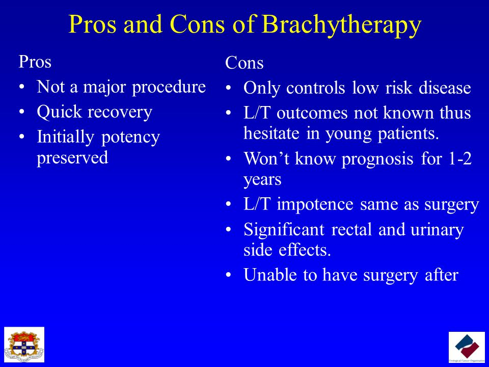 Pros and Cons of Brachytherapy