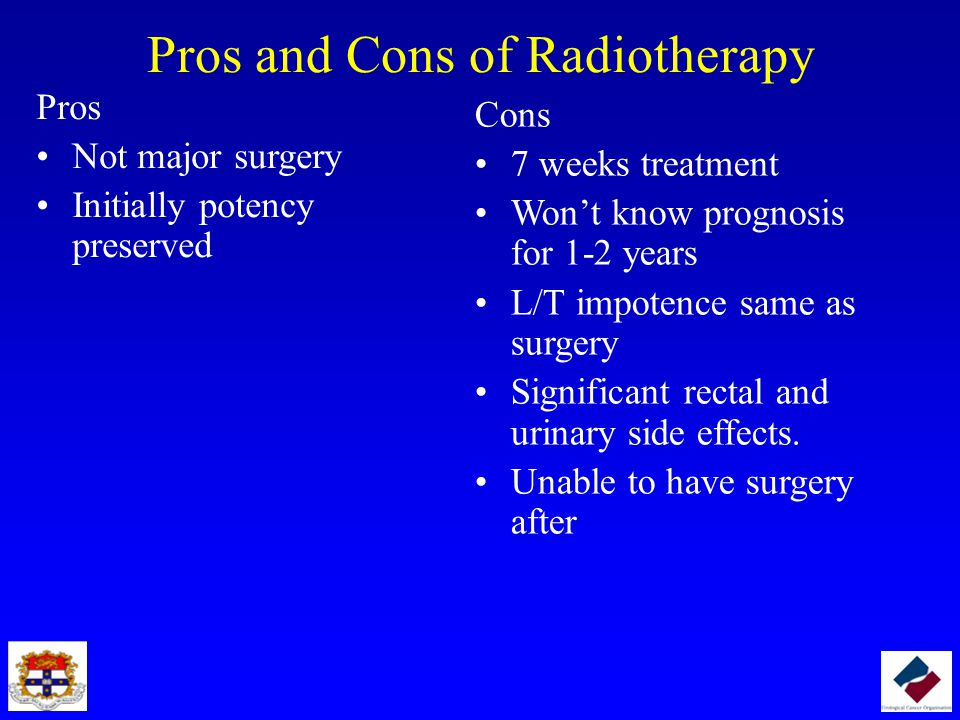 Pros and Cons of Radiotherapy