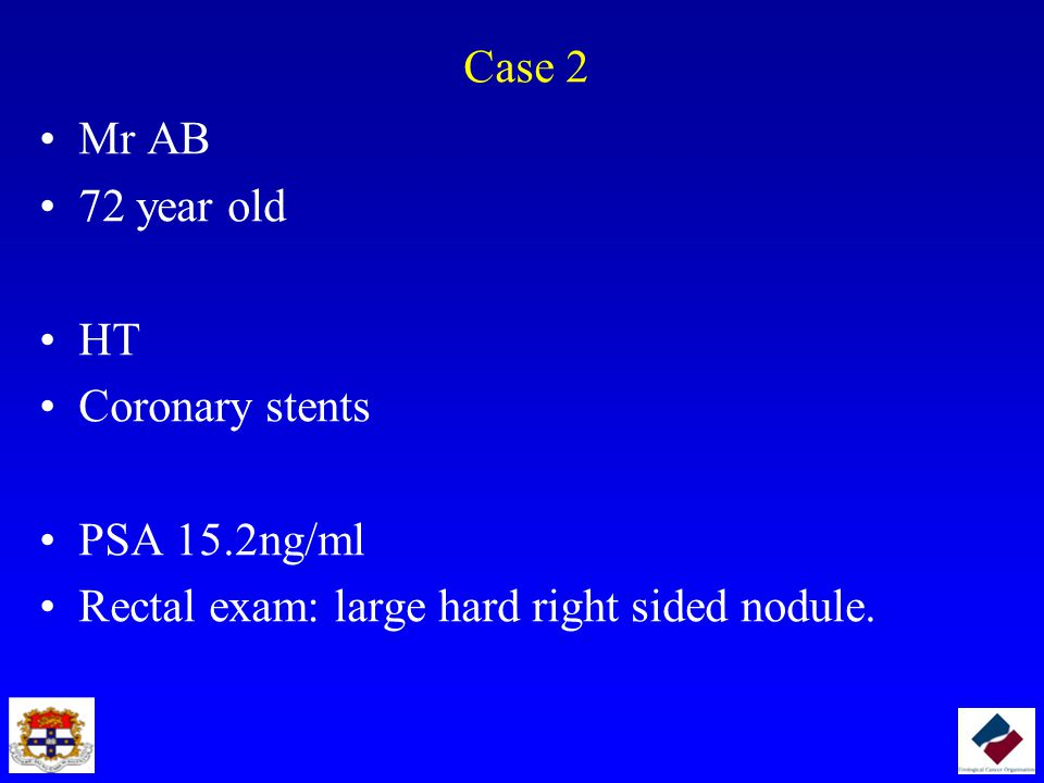 Case 2 Mr AB. 72 year old. HT. Coronary stents.