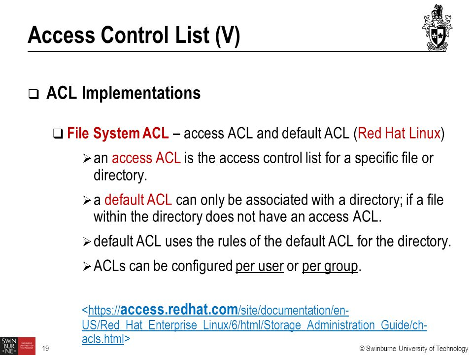 Access Control List (V)