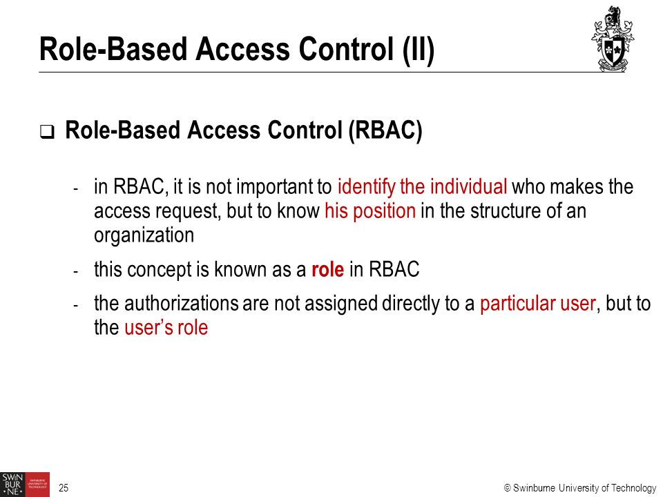 Role-Based Access Control (II)