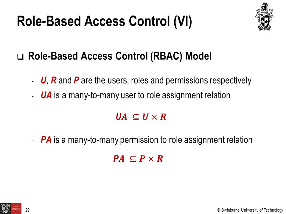 Role-Based Access Control (VI)