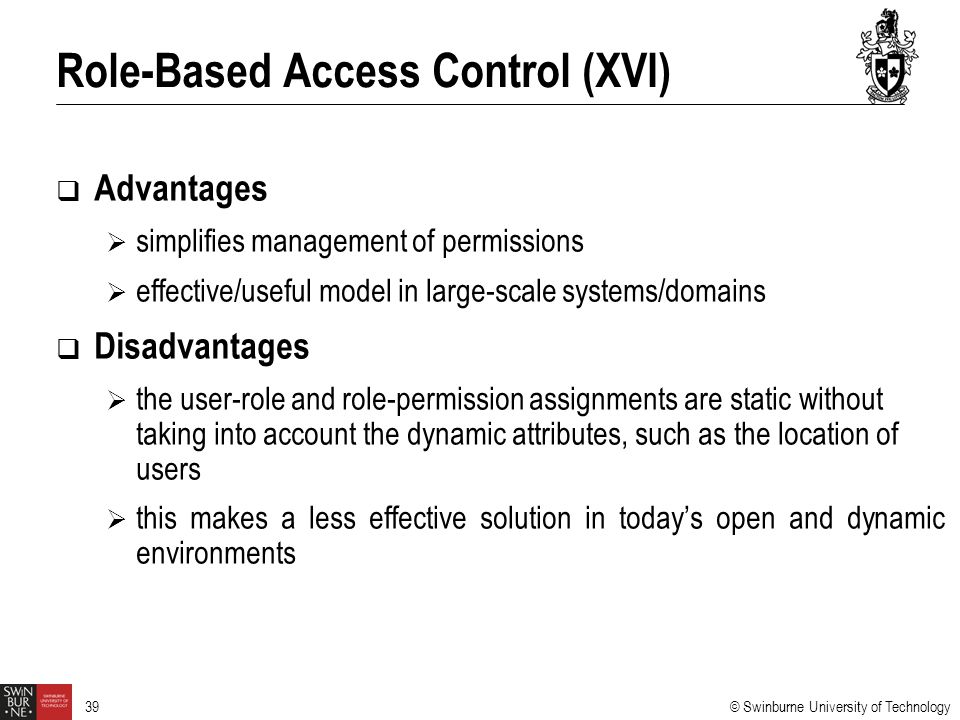 Role-Based Access Control (XVI)