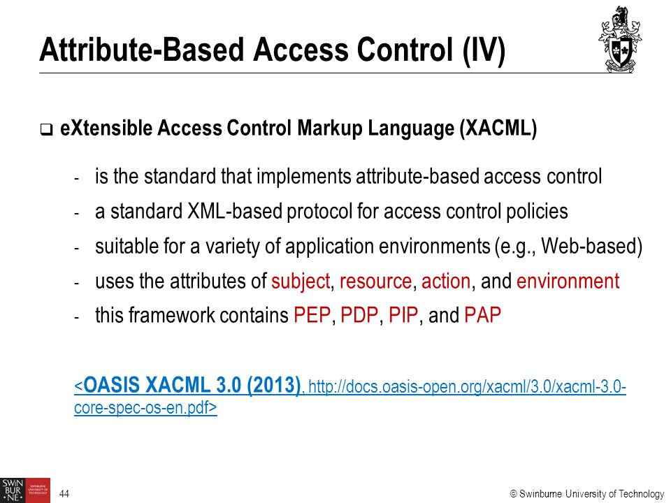 Attribute-Based Access Control (IV)