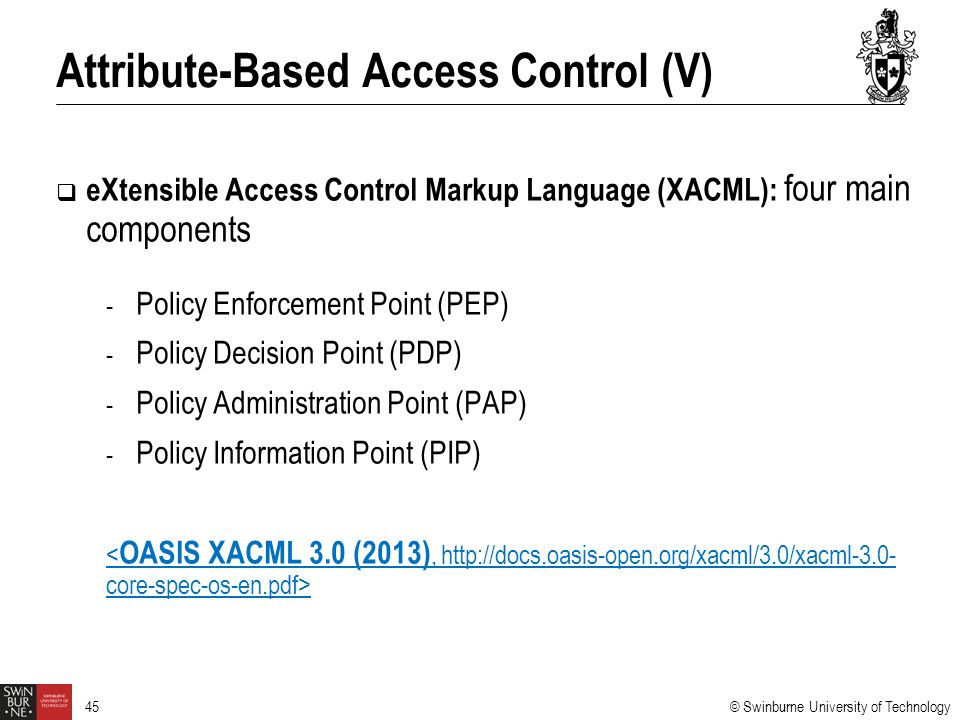 Attribute-Based Access Control (V)