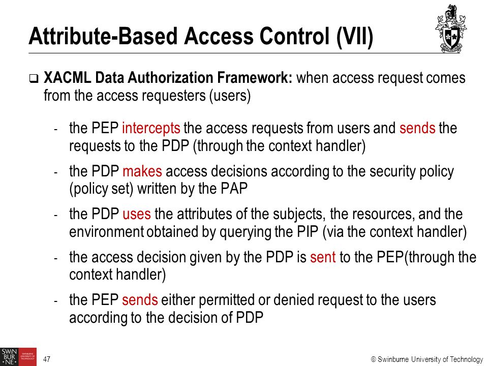 Attribute-Based Access Control (VII)