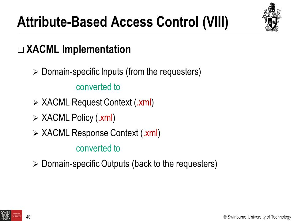 Attribute-Based Access Control (VIII)