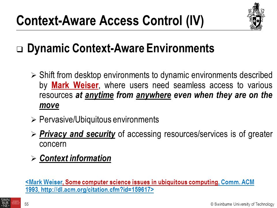 Context-Aware Access Control (IV)