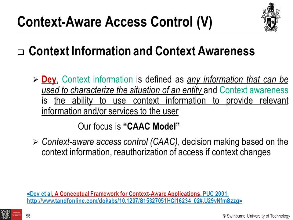 Context-Aware Access Control (V)