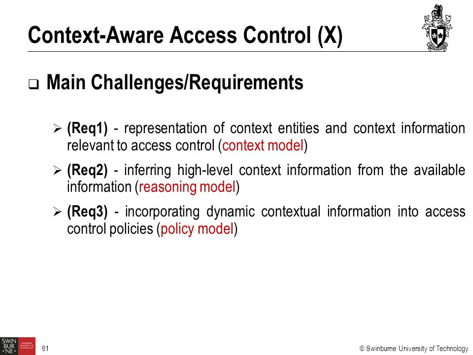 Context-Aware Access Control (X)