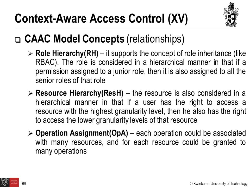 Context-Aware Access Control (XV)